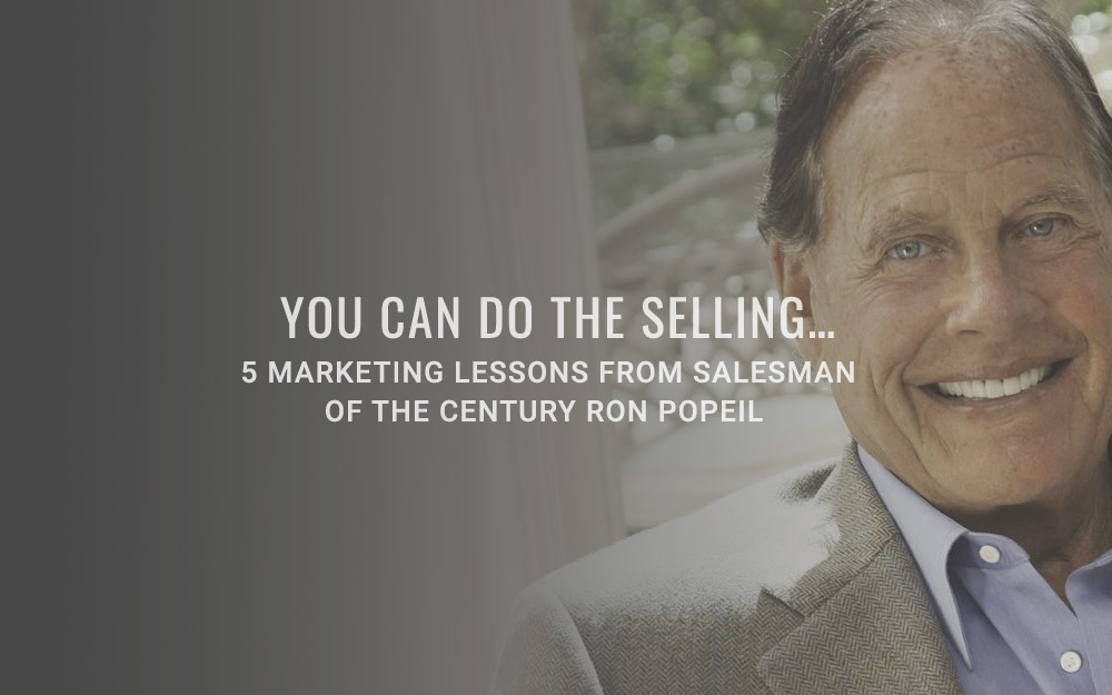 You can do the selling…